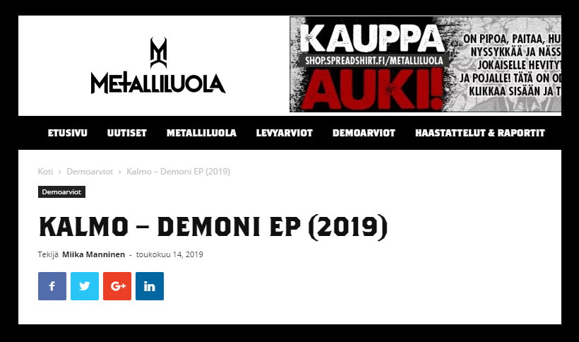 Demoni reviewed by Metalliluola