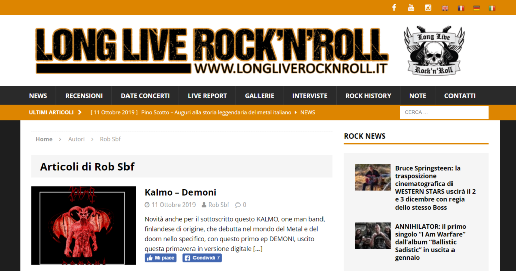 Kalmo EP Demoni review at Long Live Rock'n'Roll