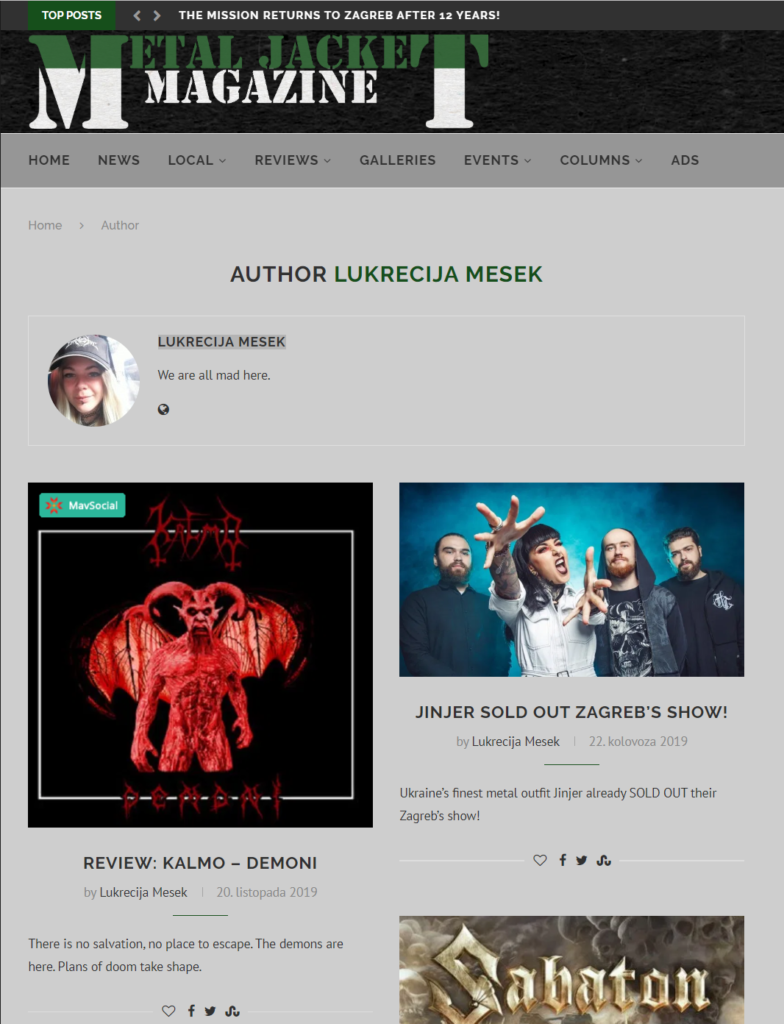 Kalmo Demoni review at Metal Jacket Magazine